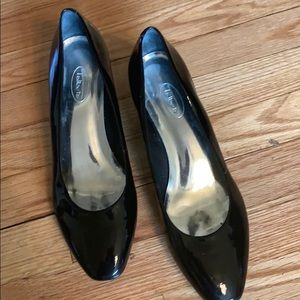Black Patent Round Toe Wedge Shoe -KB3